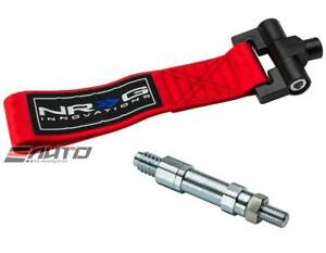 Nrg Front Tow Hook Strap Adapter Bmw E90 E92 325 328 330 335 M3 Mini R53 Red