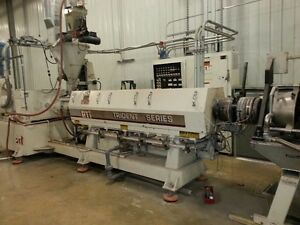 Upgraded 2013 4 5 Pti Trident Extruder With Gamma Meccanica Pelletizing Line