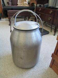 Mc Cormick Deering Stainless 5 Gal Milk Pail W cover And Bail Handle