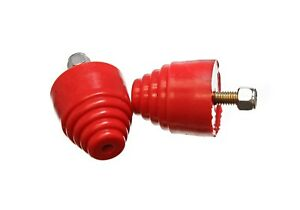 Energy Suspension 9 9101r Bump Stop Kit Universal For All Purposes In Red 2 Pc