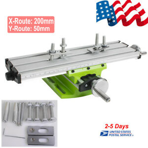 Milling Working Table Cross Sliding Bench Drill Vise Fixture Diy For Mini Drill