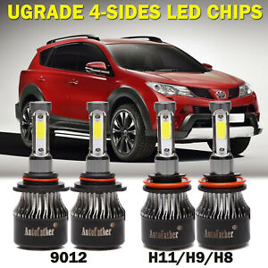 4pcs Combo 9012 Led Headlight H11 Fog Lights 3200w For Dodge Durango 2014 2015