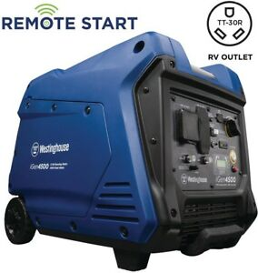 Westinghouse Inverter Generator With Led Display 4500w Super Quiet Gas Powered
