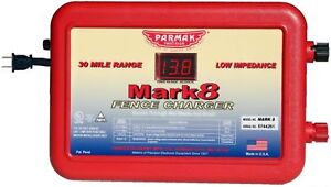 Parmak Multi power Mark 8 Electric 30 Mile Fence Charger Made In The Usa