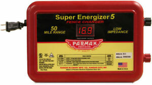 Parmak Super Energizer 5 Electric Fence Controller 50 Mile Charger Se 5