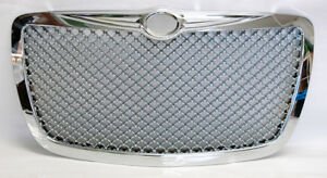 Chrome Honeycomb Mesh Front Grill Fits Chrysler 300 300c 2005 2010