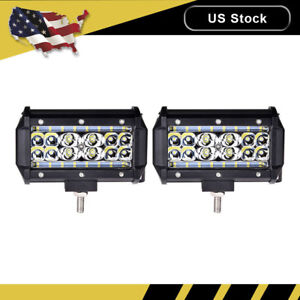 2x 5 Inch 168w Led Work Light Bar Flood Combo Pods Driving Off Road Tractor 4wd