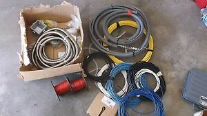 Wire Lot 4 Network Cable Metal Case Wire Spools 16 18 Awg Etc