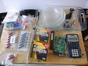 Lab Lot Mixed Items Calculator Ti 30xiis Glassware Petri Dishes Baking Dish Etc