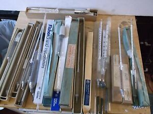 Lab Lot Hygrometers Thermometers Baume 20 Pcs