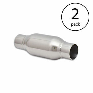 Vibrant Power Bottle Style Steel 2 5 Inlet Outlet X 12 Long Resonator 2 Pack