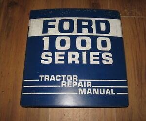 Ford 1300 1500 1700 1900 Tractor Service Repair Manual In Ford 3 Ring Binder