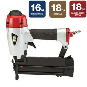 16 18 Gauge 3 in 1 Air Nailer stapler Complete Trim Work W 1 Tool Instead Of 3