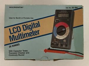 Mint 80 Radio Shack Micronta 29 Range Lcd Digital Multimeter 22 194 Works