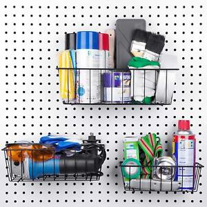 Pegboard Basket Set 3 Pack Organize Tools Workbench Accessories Garage Storage