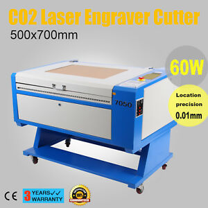 60w Co2 Laser Cutter Engraver Engraving Cutting Machine Usb Water Pump 500x700mm