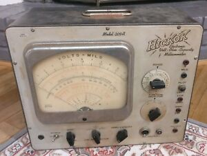 Vintage Hickok Model 209a Volt Ohm Millameters Multimeter Vacuum Tube as Is