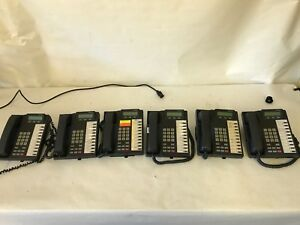Lot Of 6 Toshiba Dkt2010 sd Business Telephones And Handsets J 42