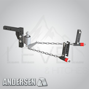 Andersen 3394 Weight Distribution Hitch 4 Drop Rise 2 5 Shank 2 5 16 Ball