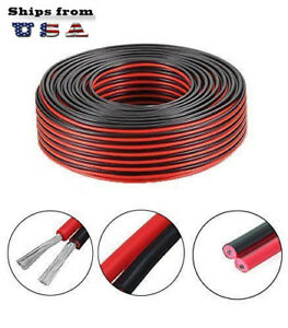 18 2awg Gauce Black And Red Extension Cable Wire Cord For Led Strips Car Cable