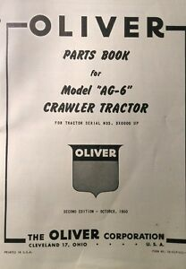 Oliver Cletrac Dozer Crawler Tractor A Ag 6 Ag 6h Parts Manual120pg F 226 Engine