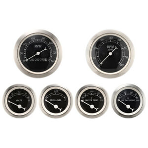 Motor Meter Racing 6 Gauge Set Classic Mechanical Speedometer Analog Odometer