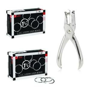 Acco Loose Leaf Binder Rings 1 Inch Capacity Silver 2 Boxes 100