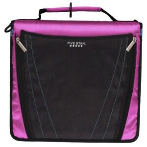 Five Star 2 Inch Zipper Binder Expanding Pocket Durable Purple 73303