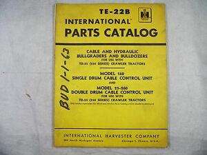 Ih International Bulldozer Parts Book For Td25 250 And Cable Control Units