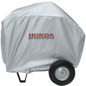 Honda Universal Generator Cover In Silver Folding Handle Wheel Kit Large Silver