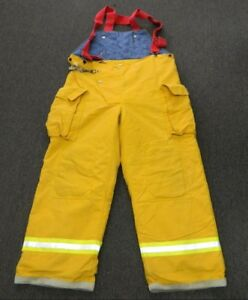 Fyrepel Turnout Gear Firefighter Bunker Pants W Suspenders Size Large 4