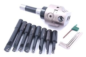 Indexable Tool Set With 3 Boring Head R8 Shank 8 Boring Bars 1001 0205