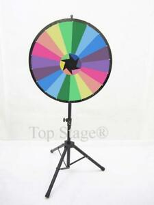 Defect no Erasable 24 Prize Spin Wheel With Color Trade Show Fortune Spinner