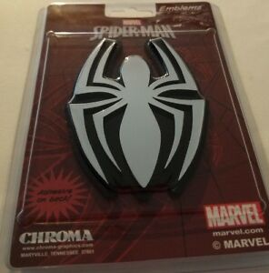 Marvel Spider Man Chroma Silver Spider Emblem