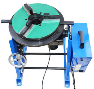 Upgrade Style New 30kg Duty Welding Positioner 110v 1 15rpm With 200mm Chuck