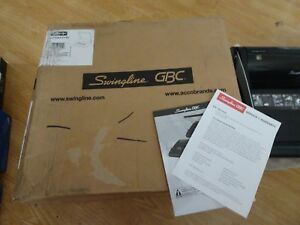 New Open Box Manual Binding Machine Swingline Gbc P110 Perfect Punch Proclick