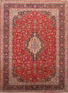 Large Excellent Traditional Handmade Red 10x14 Kashaan Persian Oriental Area Rug