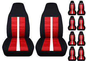 Fits Chevy S10 Bucket Front Car Seat Covers Black Red W Xtreme Zr2 Ss Blazer