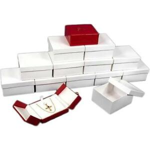 12 Red Pendant Boxes With Snap Lids 3 1 2