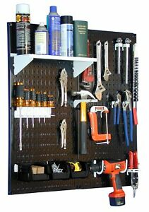 Wall Control 30 wgl 200 Bw Metal Pegboard Utility Tool Storage Kit With Black