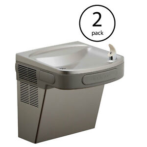 Elkay Wall Mount Indoor 8 Gph Refrigerated Drinking Water Fountain 2 Pack