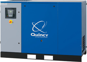 Quincy Qgs30 Rotary Screw Air Compressor 30 Hp 208 230 460v Base Mount