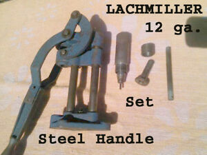 LACHMILLER Vintage Steel Handle 12 ga shotgun Press Collect shell release Early