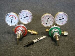 Welding Regulators Oxygen Acetylene Torch Harris Free Shipping