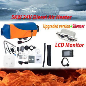 5kw 24v Air Diesel Fuel Heater Lcd Monitor Set For Truck Boat Bus Car Housing Us