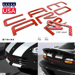 Red Plastic Raised Letters Fits Chevrolet Camaro 1993 2002 Rear Front Bumper
