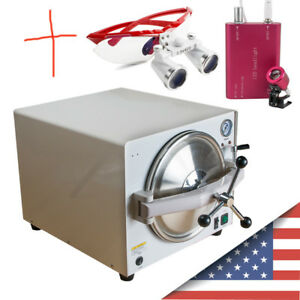 Dental 18l Autoclave Steam Sterilizer Medical Sterilization Equipment Loupes
