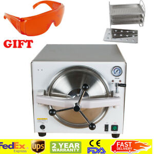 18l 900w Medical Autoclave Steam Sterilizer Dental Lab Autoclaves Machine gift
