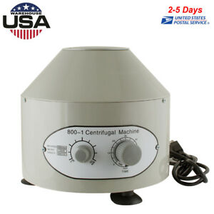110v Electric Centrifuge Machine 4000rpm Lab Medical Practice Laboratory 25w New