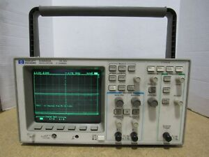 Hewlett Packard Hp 54600a 100 Mhz 2 Channel Oscilloscope For Parts Or Repair